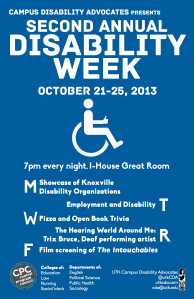 Poster for Disability Week 2013